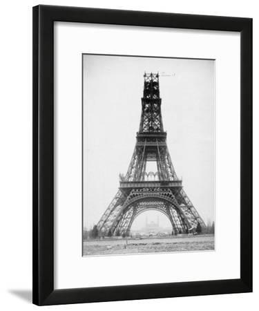 The Eiffel Tower, November 23, 1888-Louis-Emile Durandelle-Framed Art Print