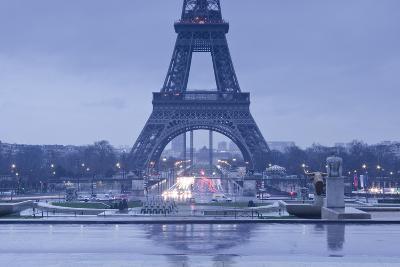 The Eiffel Tower under Rain Clouds, Paris, France, Europe-Julian Elliott-Photographic Print