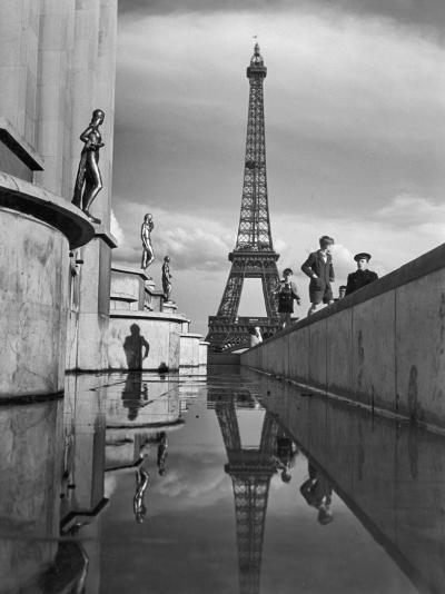 The Eiffel Tower was completed in 1889 for the World's Fair-Maynard Owen Williams-Photographic Print