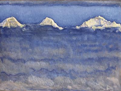The Eiger, Monch and Jungfrau Peaks Above the Foggy Sea-Ferdinand Hodler-Photographic Print