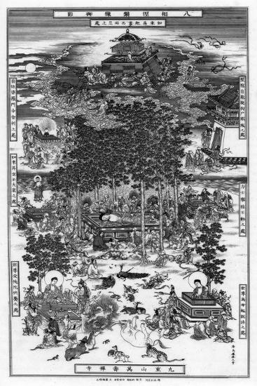 The Eight Incidents of the Nirvana of Sakyamuni, 18th Century-Wu Tao-tzu-Giclee Print