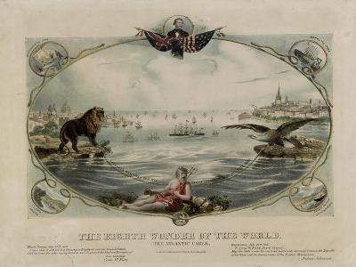 The Eighth Wonder of the World, Atlantic cable, 1866--Giclee Print
