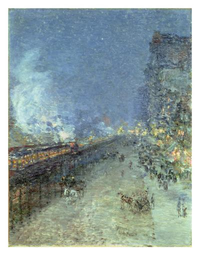 The El, New York, 1894-Childe Hassam-Giclee Print