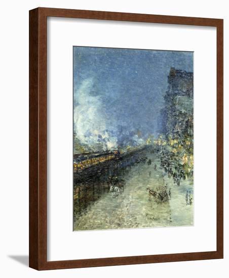 The El, New York, 1894-Childe Hassam-Framed Giclee Print