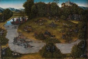 The Stag Hunt of the Elector Frederick the Wise, c.1530 by The Elder Cranach Lucas