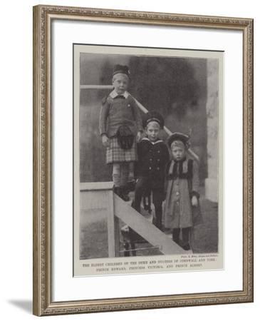 The Eldest Children of the Duke and Duchess of Cornwall and York--Framed Giclee Print