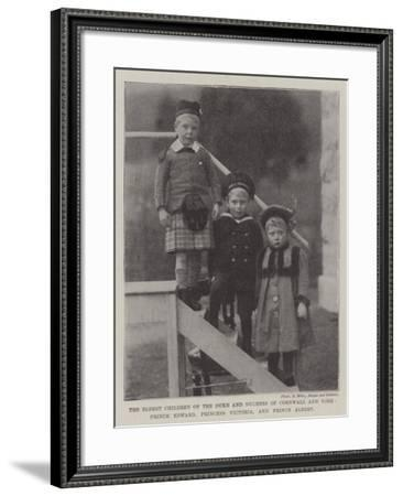 The Eldest Children of the Duke and Duchess of Cornwall and York--Framed Giclee Print
