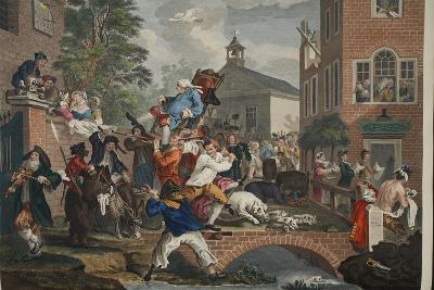 The Election, Chairing the Member, Illustration from 'Hogarth Restored: the Whole Works of the…-William Hogarth-Giclee Print