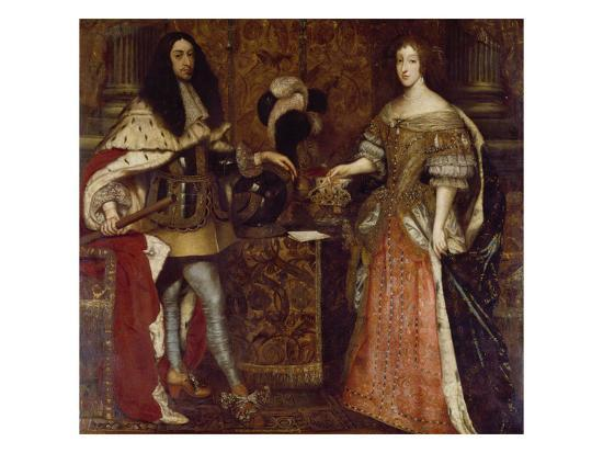 The Elector Ferdinand Maria and His Wife Henriette Adelaide. Mid-17th Century-Sebastiano Bombelli-Giclee Print