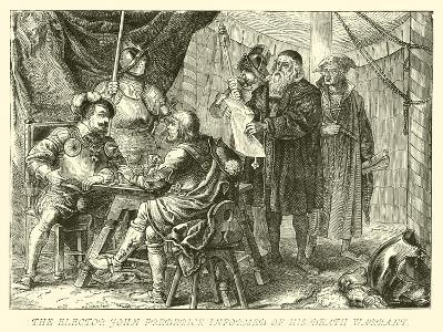 The Elector John Frederick Informed of His Death Warrant--Giclee Print