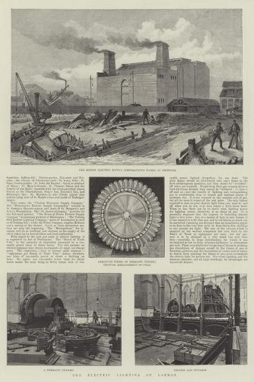 The Electric Lighting of London--Giclee Print