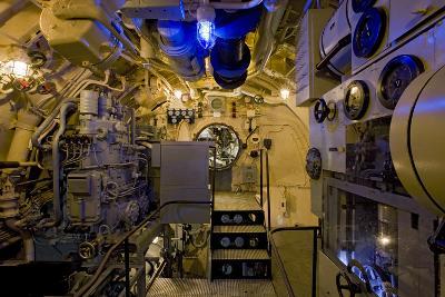 The Electric Motor Room on the Captured German Submarine U505--Photographic Print