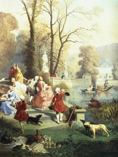The Elegantes at Versailles-Jules Achille Noel-Giclee Print