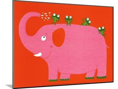 The Elephant and the Frog-Nathalie Choux-Mounted Print