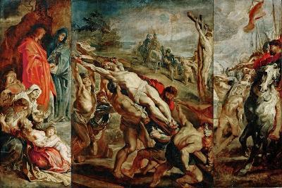 The Elevation of the Cross (Sketch for the Triptyc)-Peter Paul Rubens-Giclee Print