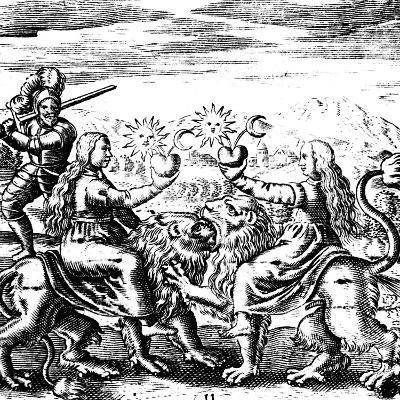 The Eleventh Key of Basil Valentine, Legendary 15th Century German Monk and Alchemist, 1651--Giclee Print