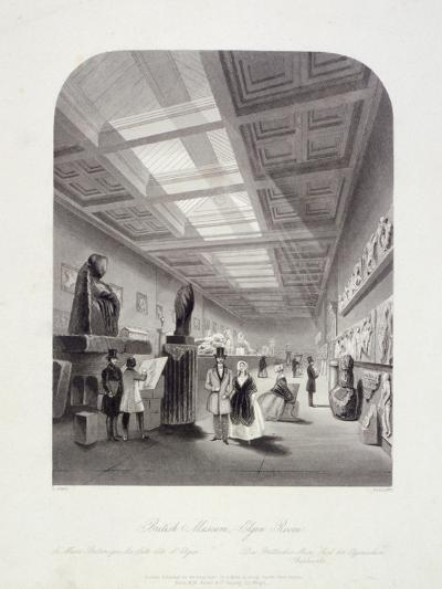 The Elgin Room, British Museum, Holborn, London, C1850-William Radclyffe-Giclee Print