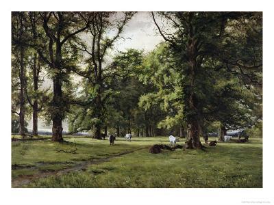 The Elm Walk-William Grylls Addison-Giclee Print