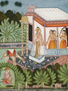 The Elopement of Dhola and Maru, Bundi circa 1750