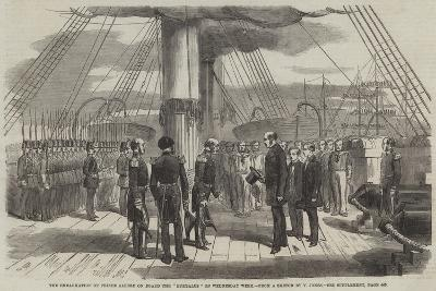 The Embarkation of Prince Alfred on Board the Euryalus on Wednesday Week--Giclee Print