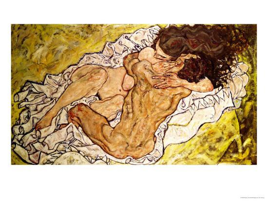 The Embrace, 1917-Egon Schiele-Giclee Print