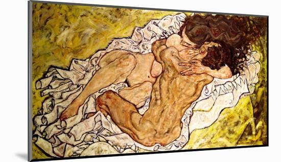 The Embrace, 1917-Egon Schiele-Mounted Giclee Print