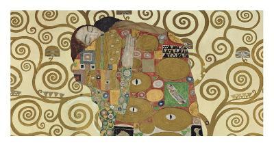 The Embrace (detail)-Gustav Klimt-Art Print