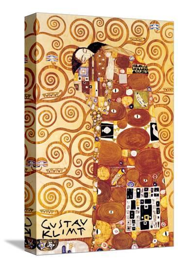 The Embrace-Gustav Klimt-Stretched Canvas Print