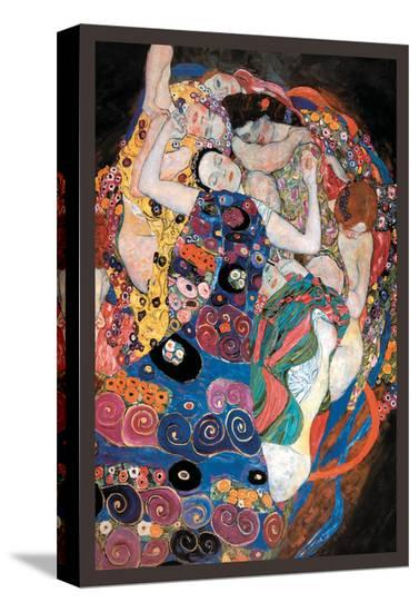 The Embrace-Gustav Klimt-Stretched Canvas Print