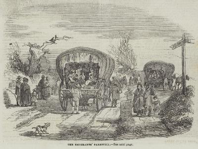 The Emigrants' Farewell--Giclee Print