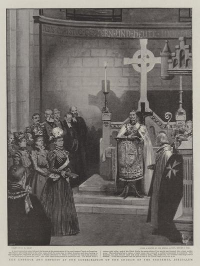 The Emperor and Empress at the Consecration of the Church of the Redeemer, Jerusalem-Henry Marriott Paget-Giclee Print