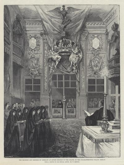 The Emperor and Empress of Germany at Divine Service in the Chapel of the Charlottenburg Palace-William 'Crimea' Simpson-Giclee Print