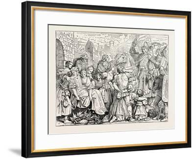 The Emperor Conrad III and the Women of Weinsberg--Framed Giclee Print