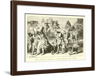 The Emperor Leopold I Flying before the Turks--Framed Giclee Print