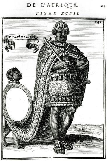The Emperor of Abyssinia, 17th Century--Giclee Print