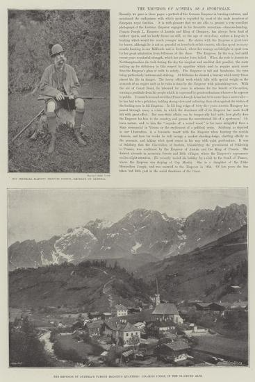 The Emperor of Austria as a Sportsman--Giclee Print