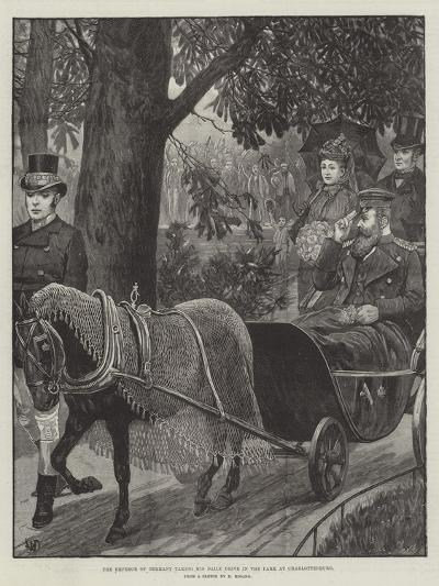 The Emperor of Germany Taking His Daily Drive in the Park at Charlottenburg--Giclee Print