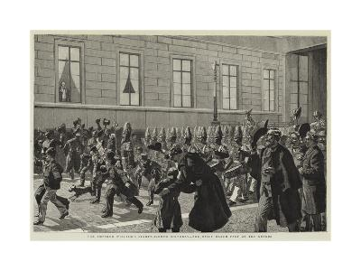 The Emperor William's Eighty-Eighth Birthday, the Daily March Past of the Guards--Giclee Print