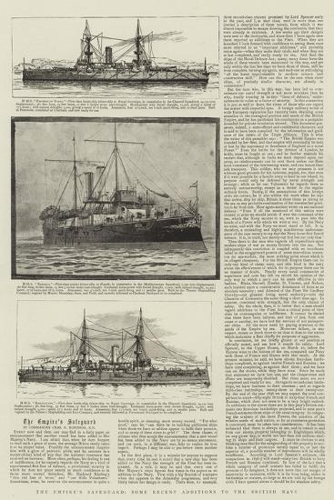 The Empire's Safeguard, Some Recent Additions to the British Navy--Giclee Print