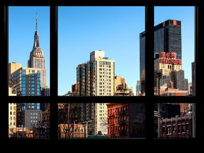 The Empire State Building and New Yorker Hotel - New York, USA-Philippe Hugonnard-Photographic Print