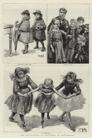 The Employment of Children in Pantomimes-Charles Paul Renouard-Giclee Print