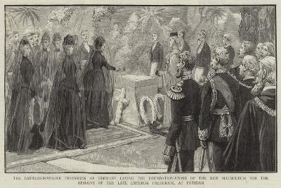 The Empress-Dowager Frederick of Germany Laying the Foundation-Stone of the New Mausoleum for the R--Giclee Print