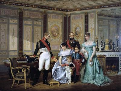 The Empress Josephine Presenting Her Children to the Emperor Alexander at Malmaison, C1839-1879-Jean Louis Victor Viger-Giclee Print
