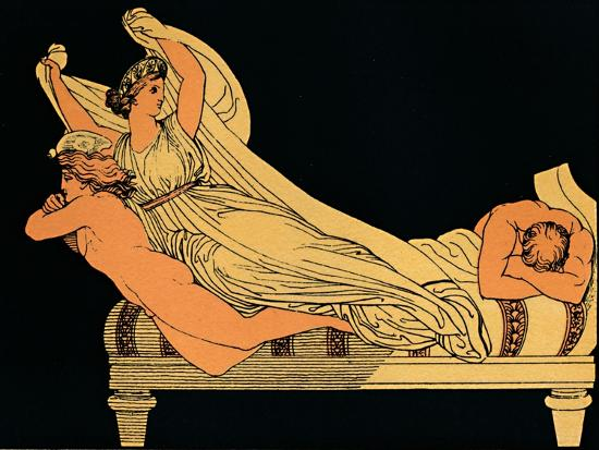 The Empty Joy That Dwells In the Dreams of the Night, 1880-Flaxman-Giclee Print