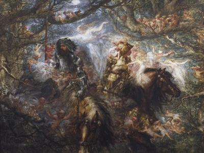 The Enchanted Forest, 1886-John Gilbert-Stretched Canvas Print