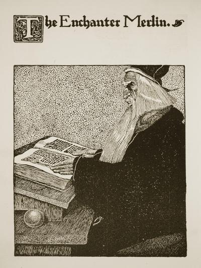 The Enchanter Merlin, Illustration from 'The Story of King Arthur and His Knights', 1903-Howard Pyle-Giclee Print