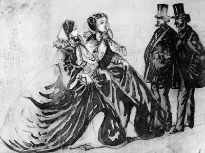 The Encounter-Constantin Guys-Giclee Print