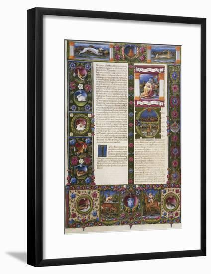 The End of Book of Deuteronomy and Incipit from Book of Joshua--Framed Giclee Print