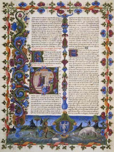The End of Book of Solomon, from Volume I of Bible of Borso D'Este, Illuminated by Taddeo Crivelli--Giclee Print