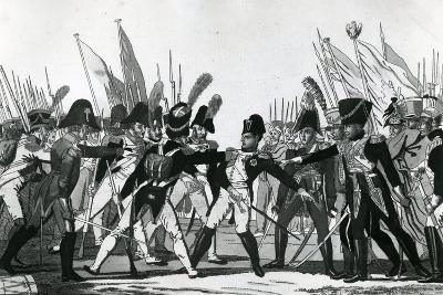 The End of Napoleon as Emperor--Giclee Print